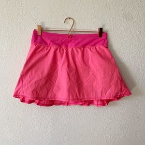 Lululemon Hot Pink Pace Setter Skirt Size 6